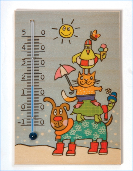Thermometer - Vier Freunde