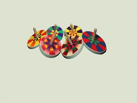 Kreisel klein - Chameleon- 24 Stück
