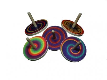Kreisel klein - Spirale - 24 Stück
